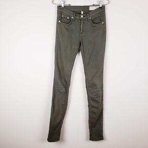 Rag & Bone Green Skinny Jeans Size 25